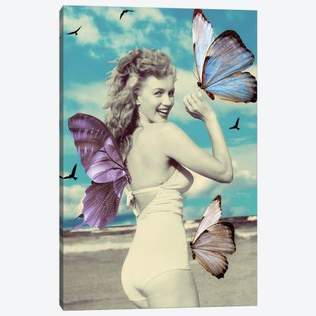 Butterfly Symphony Canvas Print #KKL13} by Kiki C Landon Canvas Artwork