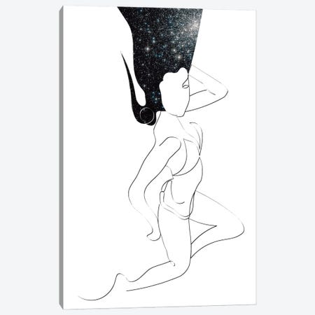 Dark Night Canvas Print #KKL24} by Kiki C Landon Canvas Wall Art