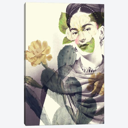 Frida Canvas Print #KKL46} by Kiki C Landon Canvas Art