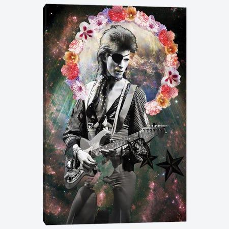 Holy Bowie Canvas Print #KKL53} by Kiki C Landon Canvas Wall Art