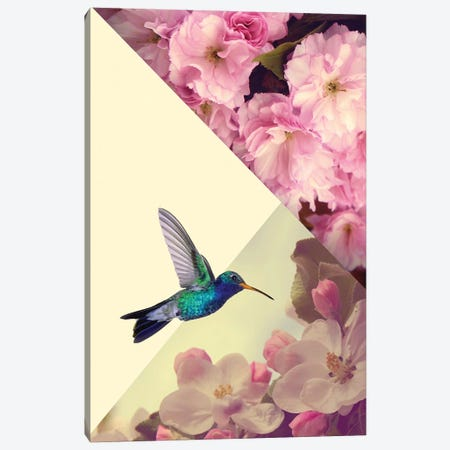 Humming Bird In Love Canvas Print #KKL59} by Kiki C Landon Canvas Art