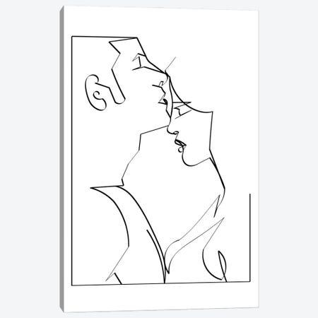 Kiss Her Goodnight Canvas Print #KKL64} by Kiki C Landon Canvas Wall Art