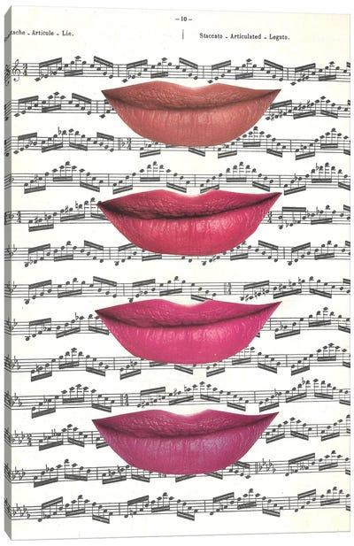 Kiss The Music Canvas Art Print