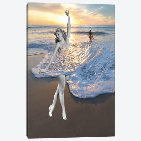 Like A Wave Canvas Print #KKL71} by Kiki C Landon Canvas Artwork