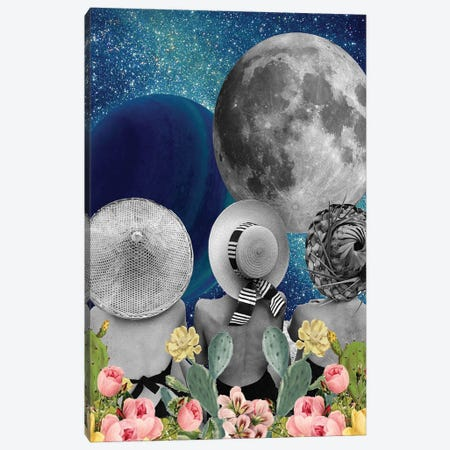Moon Bathing Canvas Print #KKL77} by Kiki C Landon Art Print