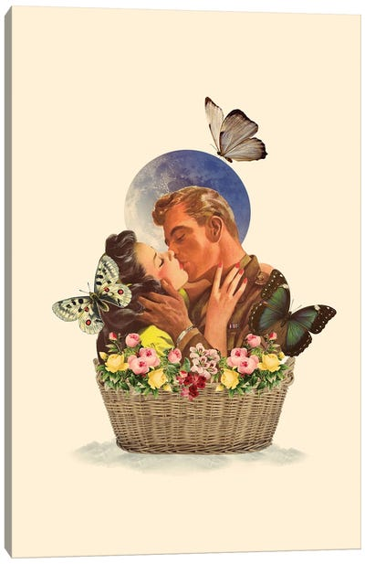Basket Of Love Canvas Art Print