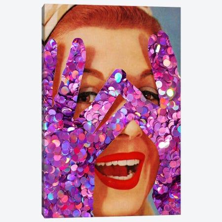 Purple Glitter Canvas Print #KKL93} by Kiki C Landon Canvas Artwork