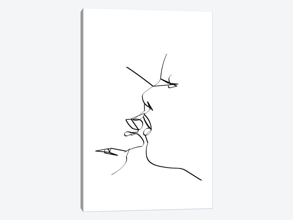 Reverse Kiss by Kiki C Landon 1-piece Art Print