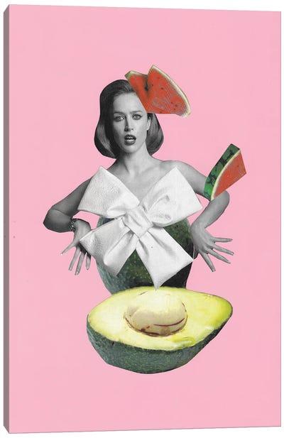 Roly-Poly Avocado Canvas Art Print