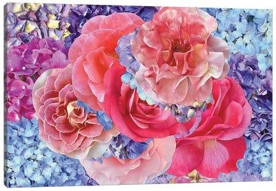 Hydrangeas with Roses Canvas Art Print