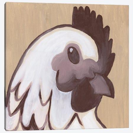 Paint Hen Canvas Print #KLB11} by Kathleen Bryan Art Print