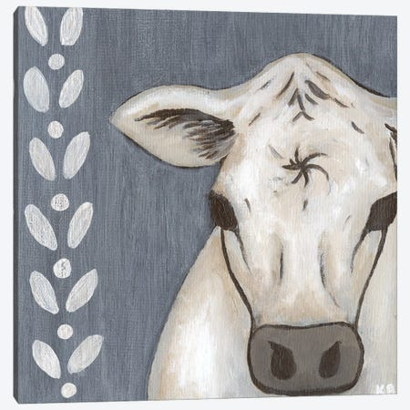 Paint Splotch Cow Canvas Print #KLB12} by Kathleen Bryan Canvas Print