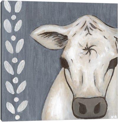 Paint Splotch Cow Canvas Art Print