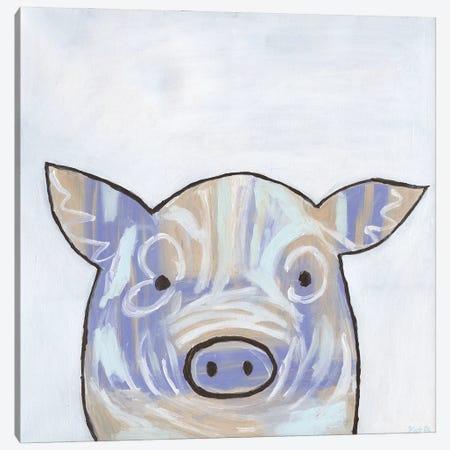 Paint Splotch Pig Canvas Print #KLB13} by Kathleen Bryan Canvas Print