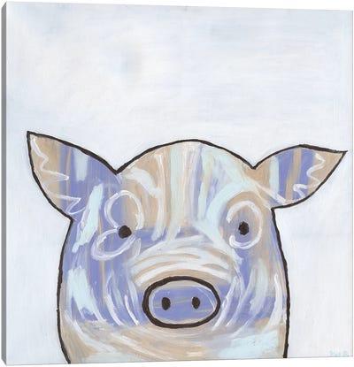 Paint Splotch Pig Canvas Art Print
