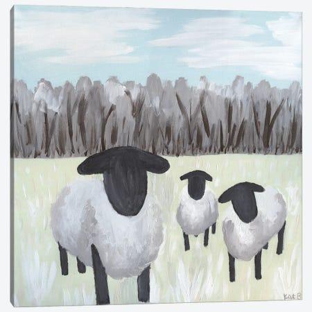 Paint Splotch Sheep Canvas Print #KLB14} by Kathleen Bryan Canvas Wall Art