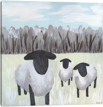 Paint Splotch Sheep Canvas Art Print