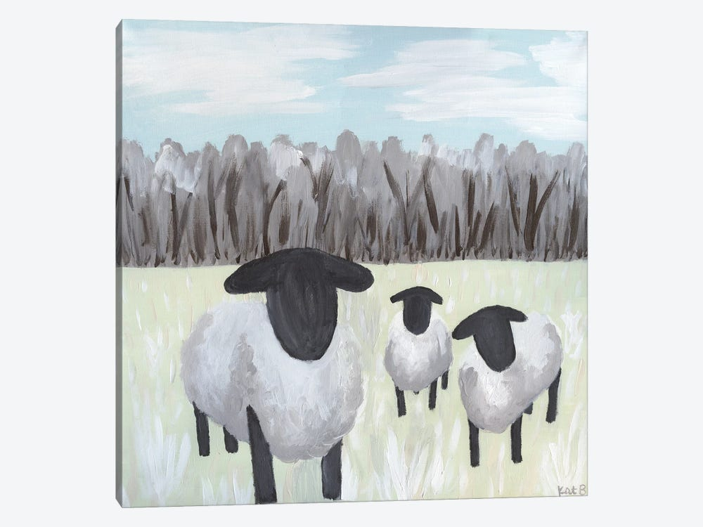 Paint Splotch Sheep by Kathleen Bryan 1-piece Art Print