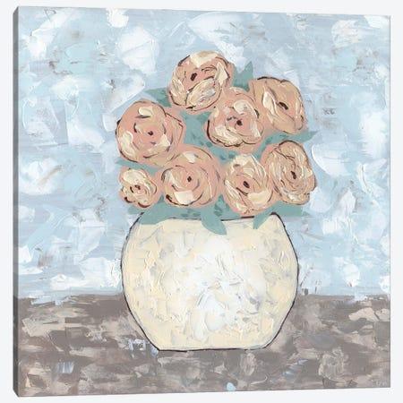 Sketchy Floral Vase Canvas Print #KLB15} by Kathleen Bryan Canvas Art