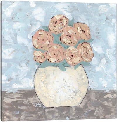 Sketchy Floral Vase Canvas Art Print