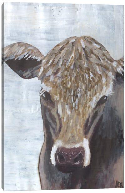 Brown Cow Canvas Art Print