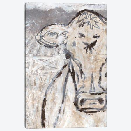 Farm Sketch Cow Canvas Print #KLB5} by Kathleen Bryan Canvas Art Print