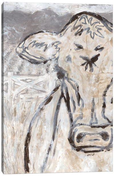 Farm Sketch Cow Canvas Art Print