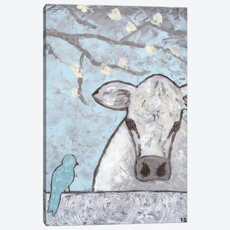 Farm Sketch Cow Pen Canvas Print #KLB7} by Kathleen Bryan Art Print