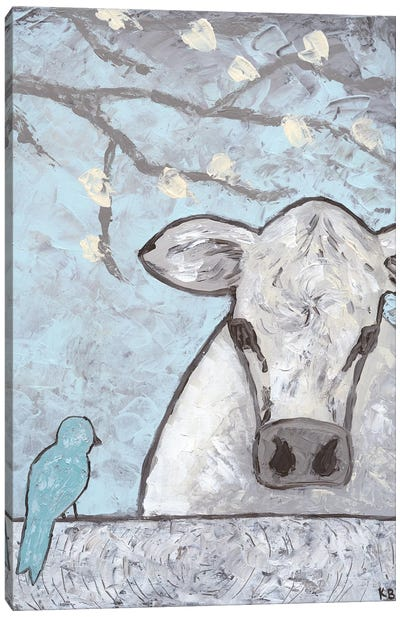 Farm Sketch Cow Pen Canvas Art Print
