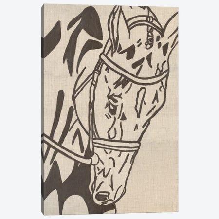 Farm Sketch Horse Canvas Print #KLB8} by Kathleen Bryan Canvas Wall Art