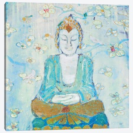 Buddha Square Canvas Print #KLD2} by Kellie Day Canvas Artwork