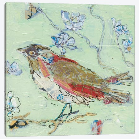 Sea Foam Bird Canvas Print #KLD5} by Kellie Day Canvas Art Print