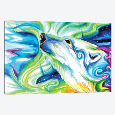 Polar Bear Canvas Print #KLI100} by Katy Lipscomb Canvas Wall Art
