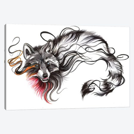 Raccoon Canvas Print #KLI102} by Katy Lipscomb Canvas Art