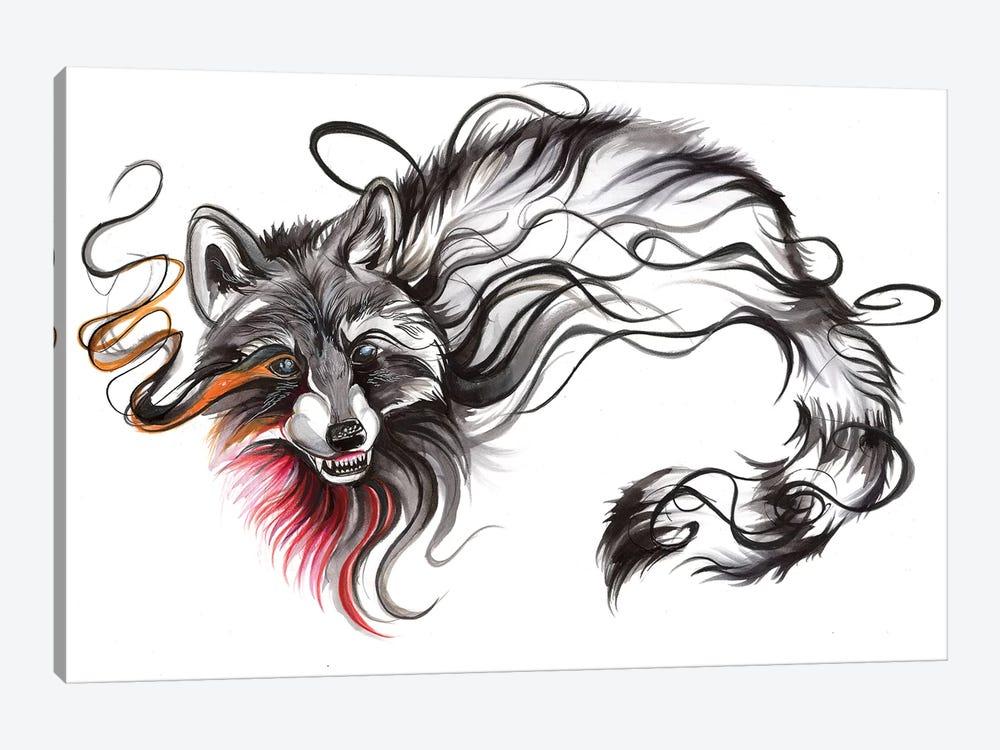 Raccoon by Katy Lipscomb 1-piece Canvas Art