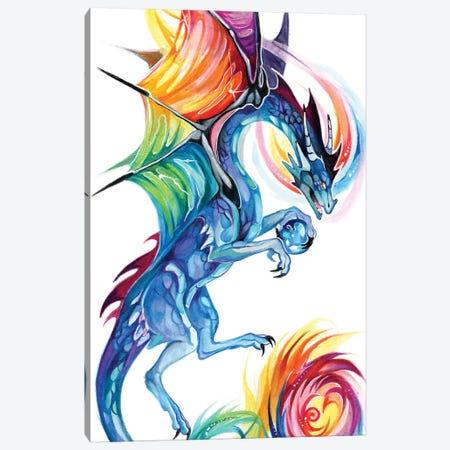Rainbow Dragon Flight Canvas Print #KLI104} by Katy Lipscomb Canvas Print