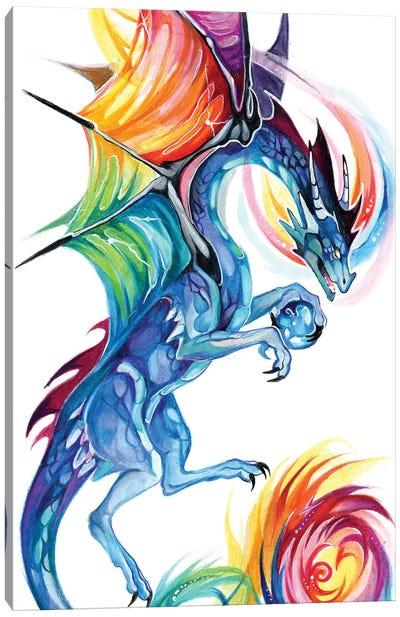 Rainbow Dragon Flight Canvas Art Print
