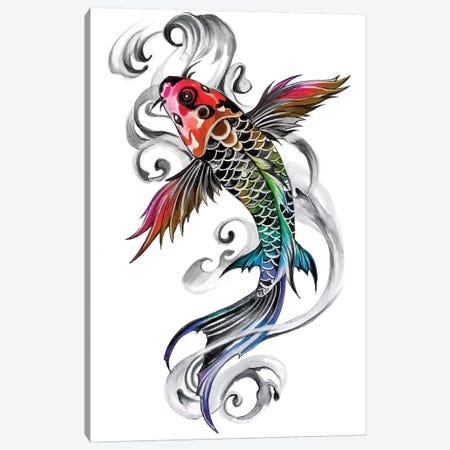 Rainbow Koi Canvas Print #KLI106} by Katy Lipscomb Canvas Art Print
