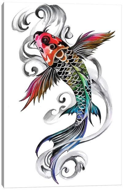 Rainbow Koi Canvas Art Print