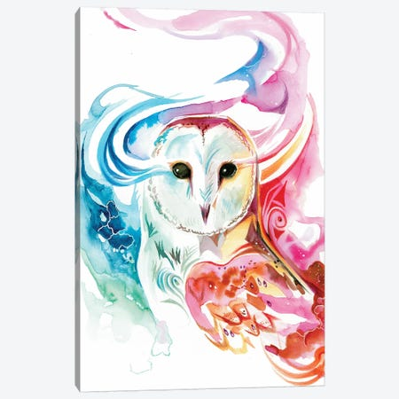 Rainbow Owl Canvas Print #KLI107} by Katy Lipscomb Canvas Art Print