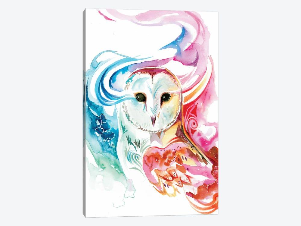 Rainbow Owl by Katy Lipscomb 1-piece Art Print