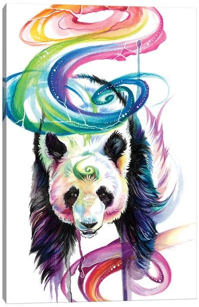 Rainbow Panda Canvas Art Print