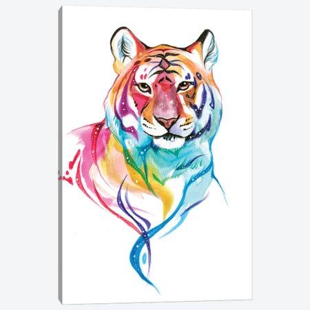 Rainbow Tiger I Canvas Print #KLI110} by Katy Lipscomb Canvas Art Print