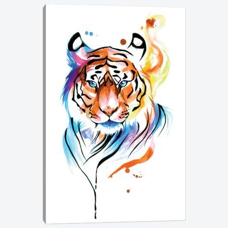 Rainbow Tiger II Canvas Print #KLI111} by Katy Lipscomb Art Print