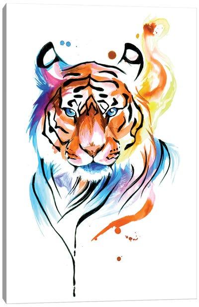 Rainbow Tiger II Canvas Art Print