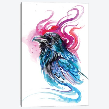 Raven I Canvas Print #KLI113} by Katy Lipscomb Art Print