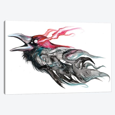 Raven II Canvas Print #KLI114} by Katy Lipscomb Canvas Wall Art