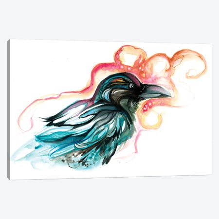 Raven III Canvas Print #KLI115} by Katy Lipscomb Canvas Artwork
