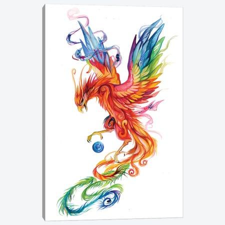 Regal Phoenix Canvas Print #KLI117} by Katy Lipscomb Canvas Artwork