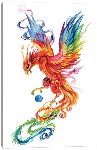 Regal Phoenix Canvas Art Print